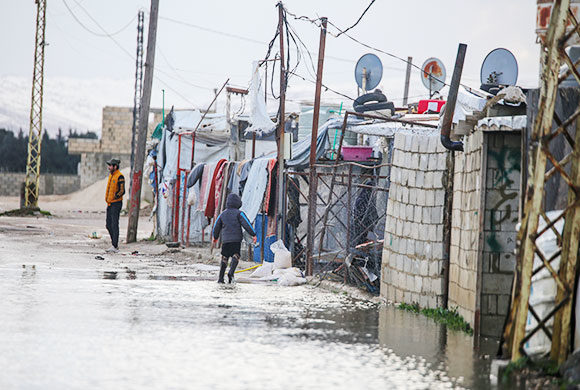 Liban : Inondations au Camp de Bekaa