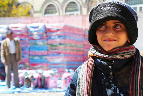 Hiver Yémen : Distribution de packs hiver