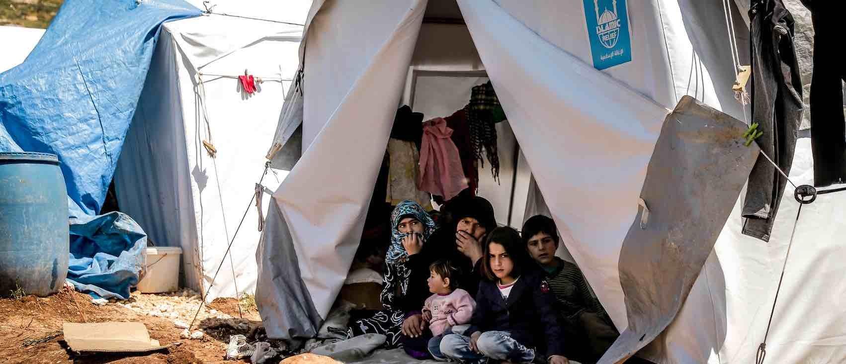 Covid refugee-camp