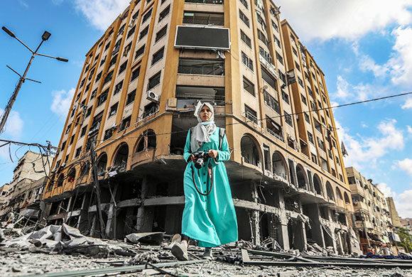 Palestine, un champ de ruine : les palestiniens en détresse.